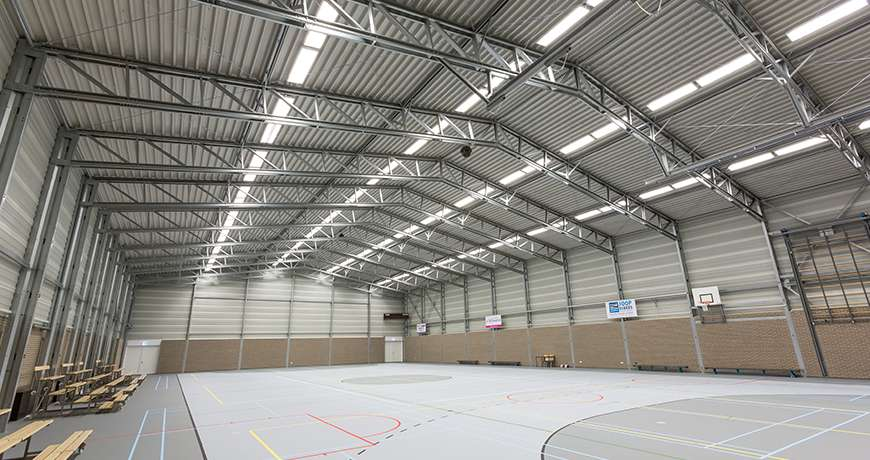 Sports Hall multifunctional fields capacity safe dry fast
